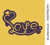 love text icon | Shutterstock .eps vector #450598294
