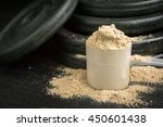 low key whey protein with iron... | Shutterstock . vector #450601438