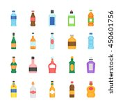 color icon set   bottle and... | Shutterstock .eps vector #450601756