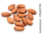 almond nuts isolated on white... | Shutterstock . vector #450602740