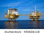 gulf thailand oil rig   may 22... | Shutterstock . vector #450606118