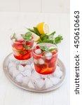summer cold drink . lemonade... | Shutterstock . vector #450610663