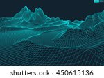 abstract vector wireframe... | Shutterstock .eps vector #450615136