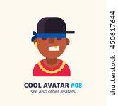 cool avatar  08. black rap... | Shutterstock .eps vector #450617644