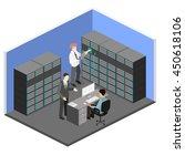 isometric interior of server... | Shutterstock .eps vector #450618106