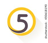 number five logo in circle.... | Shutterstock .eps vector #450618190