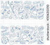 music doodle vector set | Shutterstock .eps vector #450620350