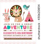 kids birthday invitation card... | Shutterstock .eps vector #450620854