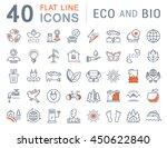 set vector line icons in flat... | Shutterstock .eps vector #450622840