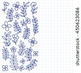 vector pattern with flowers... | Shutterstock .eps vector #450623086