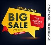big sale offer poster banner... | Shutterstock .eps vector #450623410