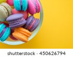 colorful france macarons on... | Shutterstock . vector #450626794