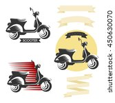 set of classic scooter emblems  ... | Shutterstock .eps vector #450630070