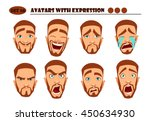 avatars with expression. red... | Shutterstock .eps vector #450634930
