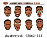 avatars with expression. black... | Shutterstock .eps vector #450634933