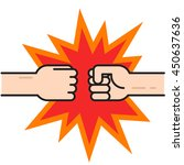 two fists bumping together... | Shutterstock .eps vector #450637636