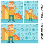 hipster bankrupt with the beard ... | Shutterstock .eps vector #450638950