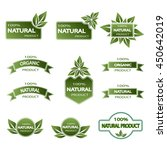 set of colored badges natural... | Shutterstock .eps vector #450642019