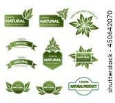 set of colored badges natural... | Shutterstock .eps vector #450642070