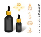 beauty oil bottle mock up.... | Shutterstock .eps vector #450646438