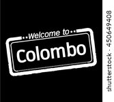 welcome to colombo city...   Shutterstock .eps vector #450649408