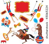 circus acts clip art party...   Shutterstock .eps vector #45065224