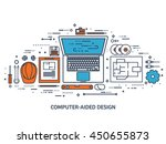 engineering and architecture... | Shutterstock .eps vector #450655873