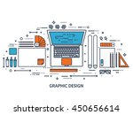 graphic web design illustration.... | Shutterstock .eps vector #450656614
