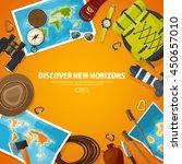 travel tourism vector... | Shutterstock .eps vector #450657010