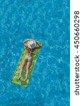 beautiful young woman in bikini ... | Shutterstock . vector #450660298