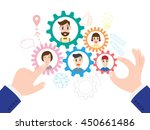 vector illustration of business ... | Shutterstock .eps vector #450661486