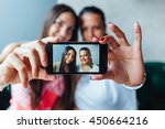 mother and daughter making...   Shutterstock . vector #450664216