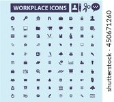 workplace icons | Shutterstock .eps vector #450671260