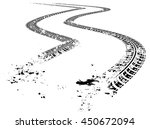 tire tracks. vector... | Shutterstock .eps vector #450672094