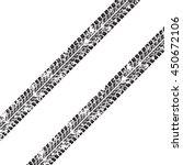 tire tracks. vector... | Shutterstock .eps vector #450672106