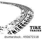 tire tracks. vector... | Shutterstock .eps vector #450672118