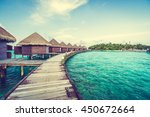 beautiful tropical maldives... | Shutterstock . vector #450672664