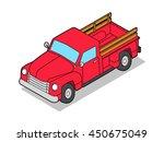 vector isometric pickup truck | Shutterstock .eps vector #450675049