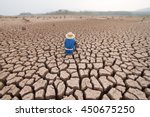 man and climate change  drought ...   Shutterstock . vector #450675250