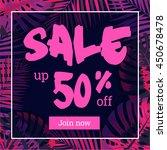 summer sale. web banner or... | Shutterstock .eps vector #450678478