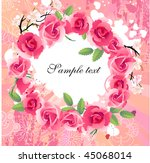 vector summer floral wreath... | Shutterstock .eps vector #45068014