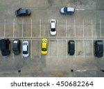 empty parking lots  aerial view. | Shutterstock . vector #450682264