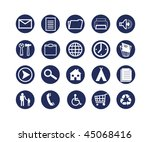 set of dark blue symbols for... | Shutterstock .eps vector #45068416