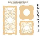 diy laser cutting vector scheme ... | Shutterstock .eps vector #450691579