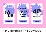 vector shop sales banners for...   Shutterstock .eps vector #450694093