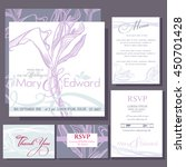 set of wedding cards or... | Shutterstock .eps vector #450701428