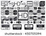 big set hd icons. hd labels. 51 ...