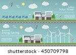 modern houses with alternative... | Shutterstock .eps vector #450709798