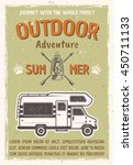 outdoor adventure and travel on ... | Shutterstock .eps vector #450711133
