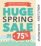 huge spring sale save up to 75  ... | Shutterstock .eps vector #450717004